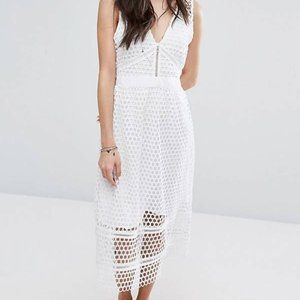 Abercrombie and Fitch Lace Midi Dress